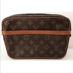 💯Authentic Louis Vuitton Compiegne 23 Pouch Bag